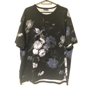 ラッドミュージシャン(LAD MUSICIAN)のLAD MUSICIAN 花柄 Tシャツ 青 ラッド ミュージシャン(Tシャツ/カットソー(半袖/袖なし))