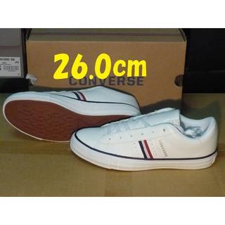 コンバース(CONVERSE)のコンバース人工皮革nextar26.0cmホワイト/ネイビー120 rx(スニーカー)