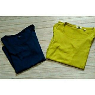ユニクロ(UNIQLO)のカットソー  長袖Tシャツ 2枚組(Tシャツ(長袖/七分))