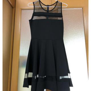 『韓国風 黒ドレスミニワンピース』