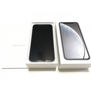 iPhone - アップル保証・新品・iPhone・XR・64GB・SIMフリー・白・送料無料