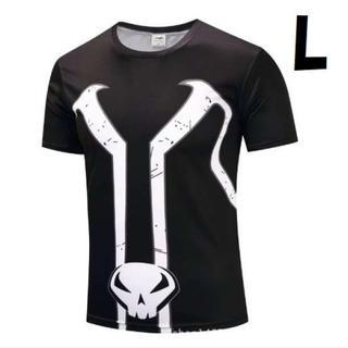 L 半袖 ② パニッシャー Tシャツ スポーツ トレーニング アメコミ どくろ(Tシャツ/カットソー(半袖/袖なし))