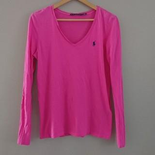 ラルフローレン(Ralph Lauren)の美品 ラルフローレン 長袖Tシャツ ピンク L(Tシャツ(長袖/七分))