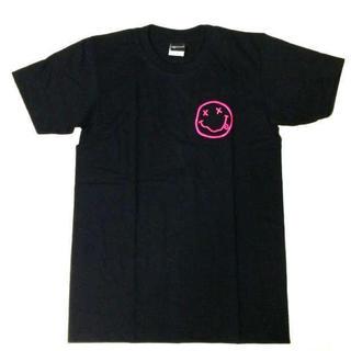 メンズ ニルヴァーナ Tシャツ チョビニコ 2 ピンク L 黒 ニルバーナ(Tシャツ/カットソー(半袖/袖なし))
