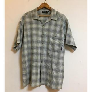 パタゴニア(patagonia)のパタゴニア 半袖 シャツ メンズ チェック グレー  Lサイズ 0619(シャツ)