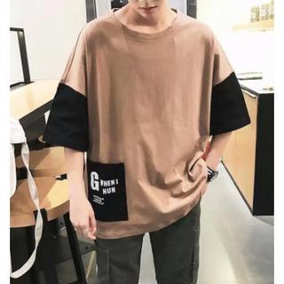 残り1着!メンズ★バイカラーTシャツ(Tシャツ/カットソー(半袖/袖なし))