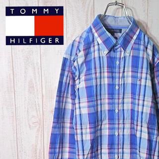 トミーヒルフィガー(TOMMY HILFIGER)のトミーヒルフィガー ボタンダウンシャツ BDシャツ チェック フラッグロゴ(シャツ)