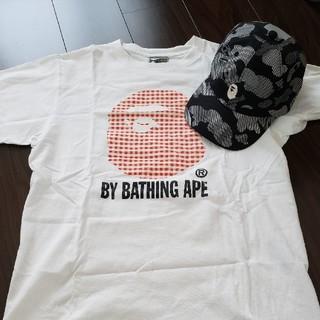 アベイシングエイプ(A BATHING APE)の【ほぼ未使用】A BATHING APE CAP&Tシャツ(キャップ)