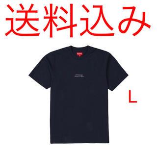 シュプリーム(Supreme)のSUPREME 19SS Qualite Tee Navy L Tシャツ(Tシャツ/カットソー(半袖/袖なし))