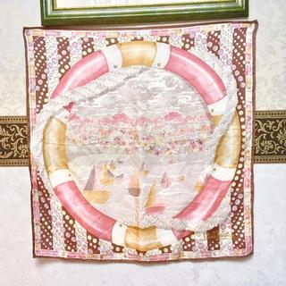 ルイヴィトン(LOUIS VUITTON)のルイヴィトン スカーフ ストール 大判 ピンク系 テーブルクロスにも(ストール/パシュミナ)