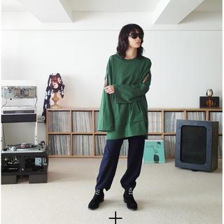 サンシー(SUNSEA)のSUNSEA 19ss SNM-BLUE-PANTS  size2(スラックス)