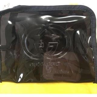 グッチ(Gucci)のGUCCI ノベルティー 透明化粧ポーチ  刺繍ロゴ(ポーチ)