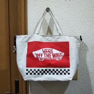 ヴァンズ(VANS)の美品 mini 付録 VANS 特製 キャンバス風 超特大ショルダーBAG(ショルダーバッグ)