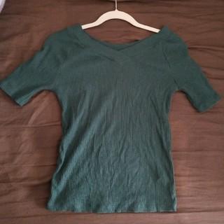 しまむら - 2Way半袖Tシャツ グリーン