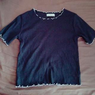しまむら - リブTシャツ ブラック