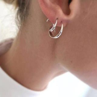 ロンハーマン(Ron Herman)のTom Woodトムウッド Mini Ear Loop シルバー ピアス 片耳(ピアス)