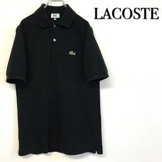 LACOSTE - 美品 LACOSTE 文字ワニロゴ ポロシャツ