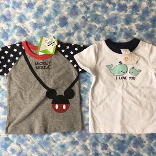 ニシマツヤ(西松屋)の新品Tシャツ二枚組 60〜70サイズ(Tシャツ)