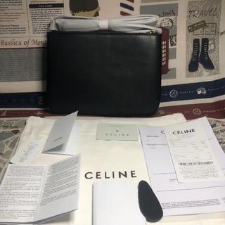 セリーヌ(celine)のセリーヌ celine  トリオ スモール ショルダーバッグ ブラック(ショルダーバッグ)