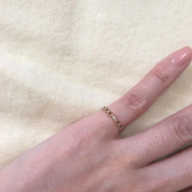 jupiter GOLD LABEL(ジュピターゴールドレーベル)のjupiter ピンキーリング ♯1 レディースのアクセサリー(リング(指輪))の商品写真