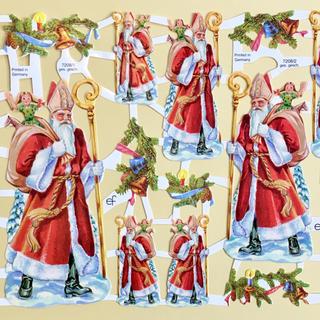 ドイツ製 ペーパークラフト ♡ クリスマス サンタ v6(印刷物)