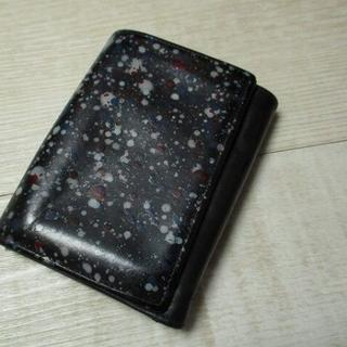 マルタンマルジェラ(Maison Martin Margiela)の Maison Martin Margiela ペンキ加工レザーウォレット 財布(折り財布)