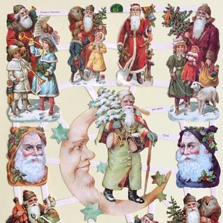 ドイツ製 ペーパークラフト ♡ クリスマス サンタ v7(印刷物)