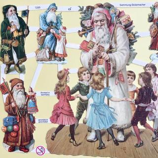 ドイツ製 ペーパークラフト ♡ クリスマス サンタ v8(印刷物)
