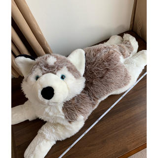 kuschelweich und waschbarぬいぐるみ犬 90cm