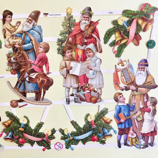 ドイツ製 ペーパークラフト ♡ クリスマス サンタ v9(印刷物)