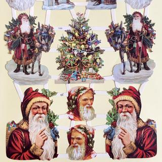 ドイツ製 ペーパークラフト ♡ クリスマス サンタ v10(印刷物)