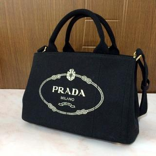 PRADA - PRADA ブラック カナパ ミニ Sサイズ