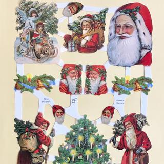 ドイツ製 ペーパークラフト ♡ クリスマス サンタ v12(印刷物)