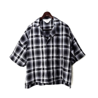 SUNSEA - Shadow Check Fried Shrimp Shirt sensuea