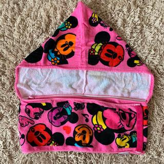 Disney - ミニー フード付きマフラータオル