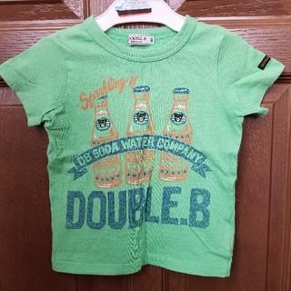 DOUBLE.B - ダブルB ソーダ ウォーター Tシャツ 100  緑 グリーン スパークリング