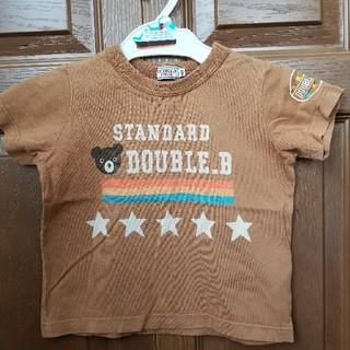 DOUBLE.B - ダブルB スタンダード Tシャツ 100 赤茶色 ライトブラウン 星