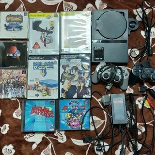 プレイステーション2(PlayStation2)のPS2 本体&ソフト9本(家庭用ゲーム本体)