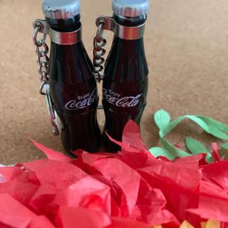 コカコーラ(コカ・コーラ)のコカコーラ☆キーホルダー 2個セット(ノベルティグッズ)