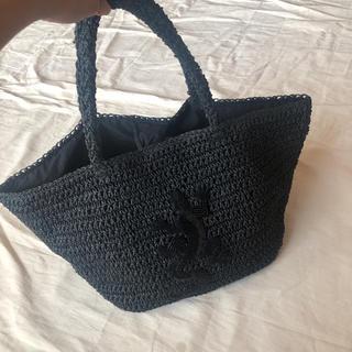 agnes b. - アニエスベー  編み カゴバッグ トートバッグ ビーズ 美品