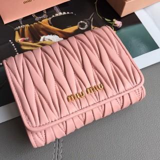 miumiu - miumiu 「マテラッセ」レザー 財布