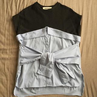 エンフォルド(ENFOLD)のENFOLD 変形カットソー(カットソー(半袖/袖なし))