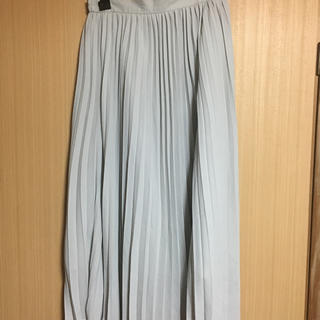 ジーユー(GU)のGU プリーツミディスカート Lサイズ(ロングスカート)