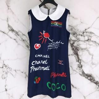 シャネル(CHANEL)の美品 夏物  CHANELシャネル ワンピース M (ひざ丈ワンピース)