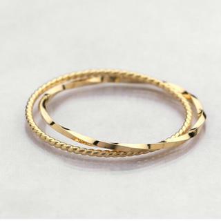 とても華奢なツイストワイヤーピンキーリング k10 3号(リング(指輪))