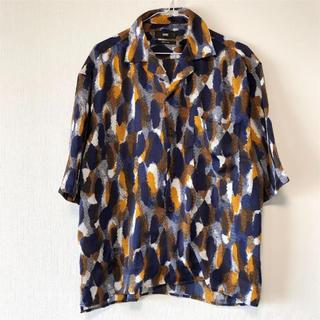 ハレ(HARE)のHARE アートガラカイキンシャツ ネイビー S(シャツ)