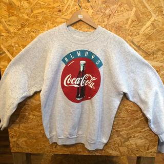 コカコーラ(コカ・コーラ)のFRUITOFTHELOOM コカ・コーラ スウェットトレーナー USA製(スウェット)