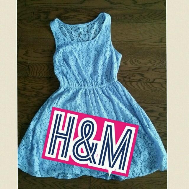 H&M(エイチアンドエム)のレースワンピース♡H&M レディースのワンピース(ひざ丈ワンピース)の商品写真