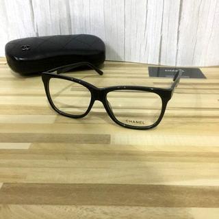シャネル(CHANEL)のCHANELシャネル メガネフレーム 3230ブラック(サングラス/メガネ)
