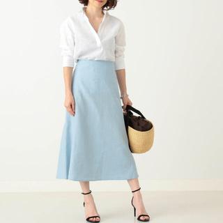 デミルクスビームス(Demi-Luxe BEAMS)のDemi-Luxe BEAMS リネンスカート 36サイズ 手洗い可能(ひざ丈スカート)